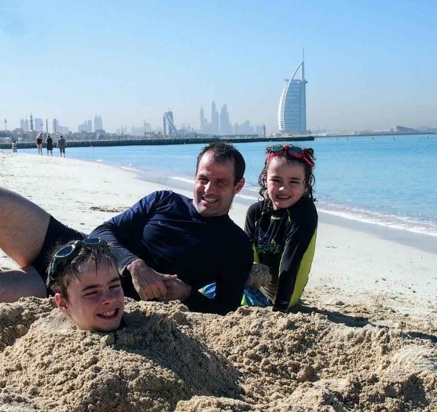 burj al arab from jumeira beach