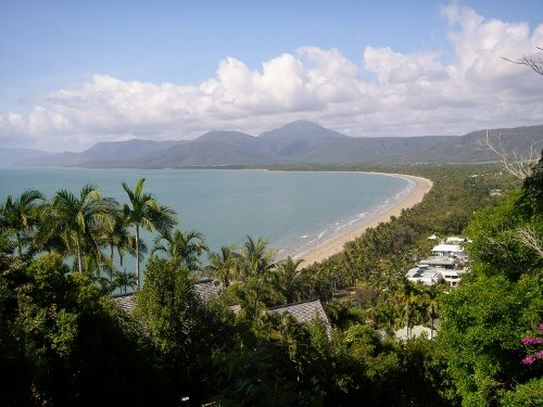 Four Mile Beach Port Douglas, without stinger net. World travel family blog