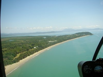 Port Douglas from a helicopter