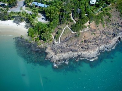 Clear waters at Four Mile Beach Port Douglas. Helicopter Ride