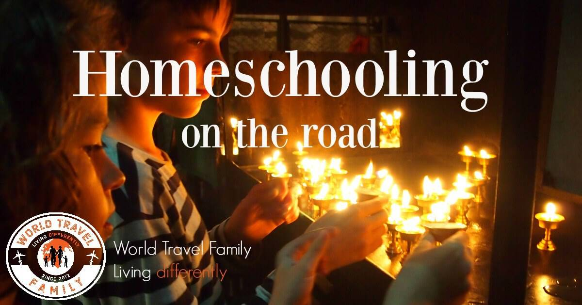 Homeschool ad travel. Homeschooling on the road