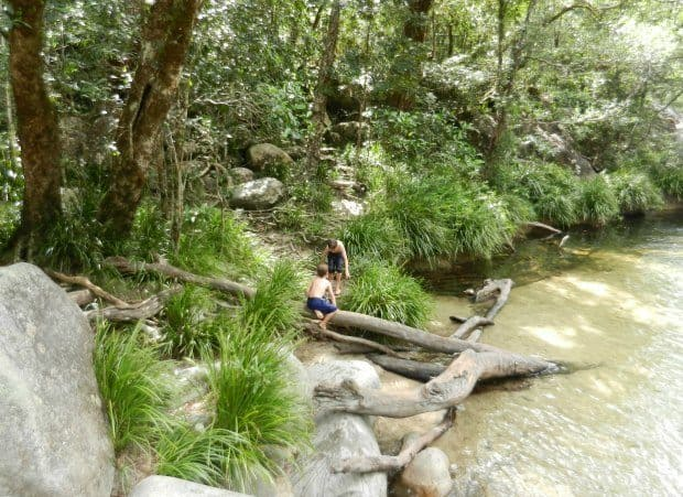 Safe swimming near Port Douglas, Mossman Gorge