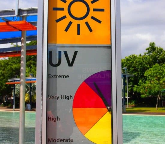 High UV levels in Cairns and Port Douglas make stinger suits or sun protective suits a very good idea, even outside stinger season.