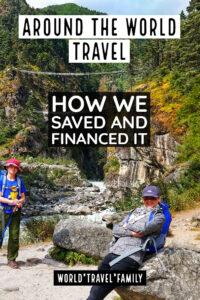 Around the world travel saving financing money