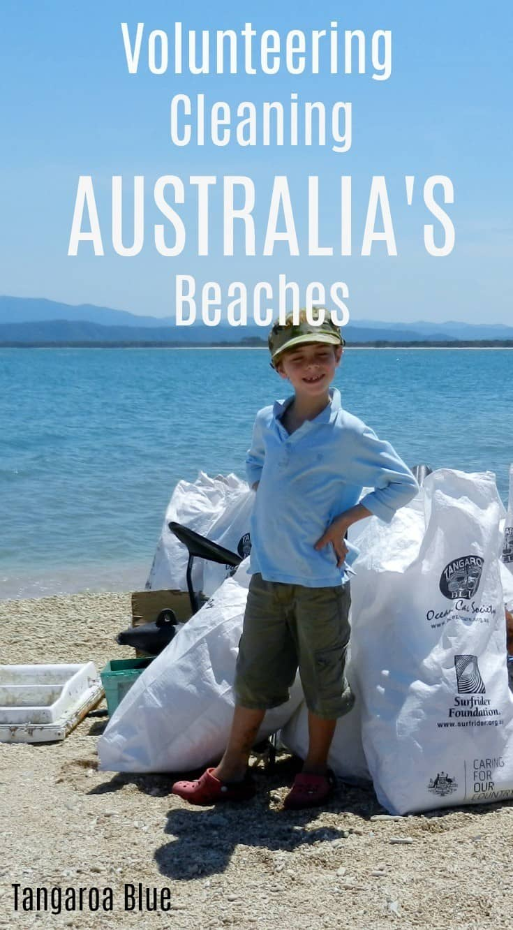 Volunteering cleaning beaches Australia Tangaroa Blue