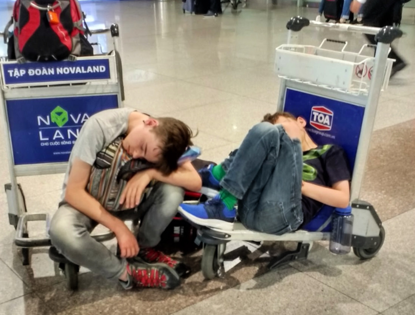 sleeping travel horror stories stranded at the airport