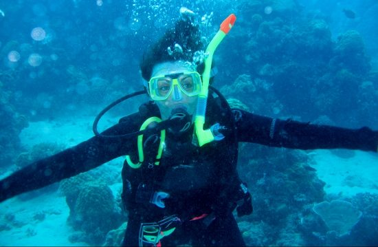 me, scuba diving