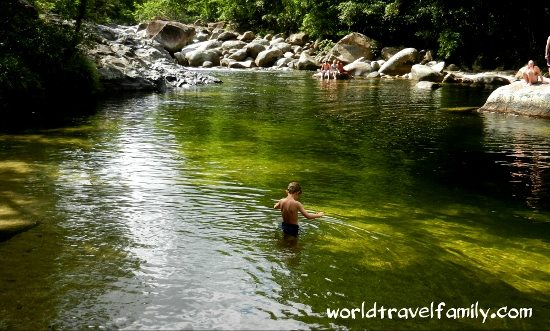 swimming at Mossman Gorge. A tropical Christmas.