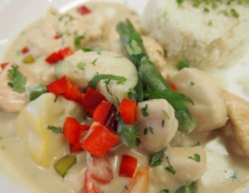 paleo food in cairns. paleo seafood curry