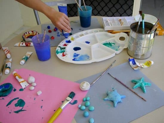 What does a homeschool day look like craft