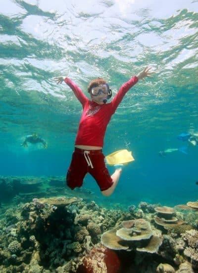 homeschool day, homeschool fieltrip. Snorkelling on the Great Barrier Reef