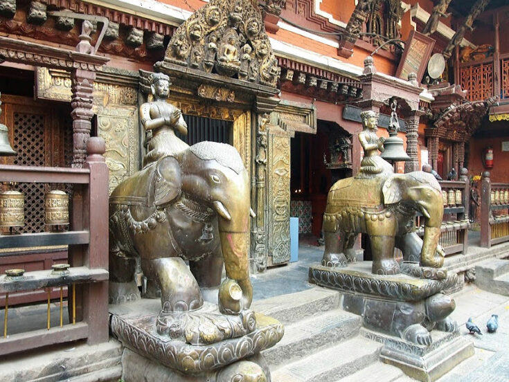Golden Temple Nepal. Rat Temple in Kathmandu