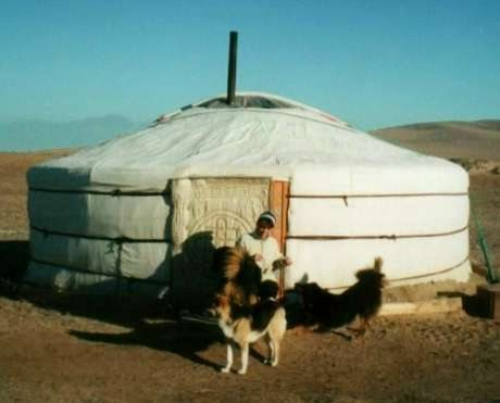 Alyson Long at Ger Camp Mongolia