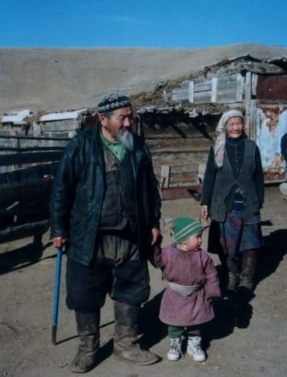 Mongolian Nomads at their Ger Camp