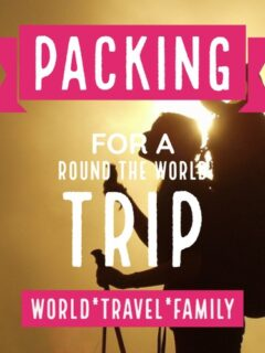 Packing for a Round the world trip female backpacker
