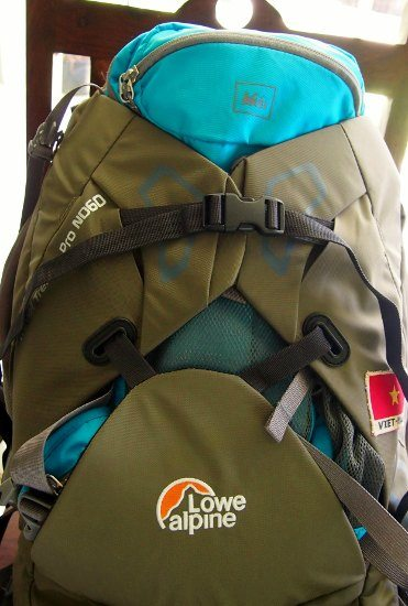 Lowe Alpine Travel Trekker Pro travel pack. The Outer Clam Shell Pocket has been quite useful.