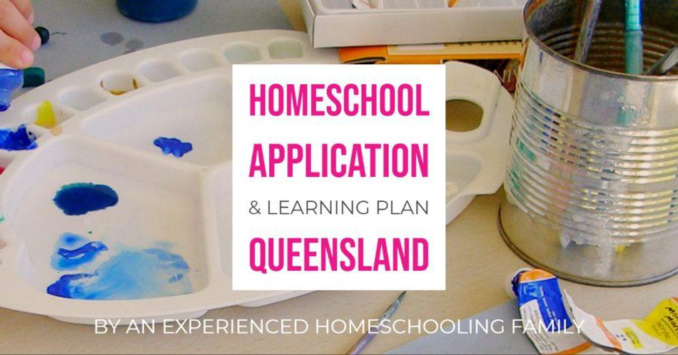 Homeschool Application Learning Plan Queensland Australia Homeschooling
