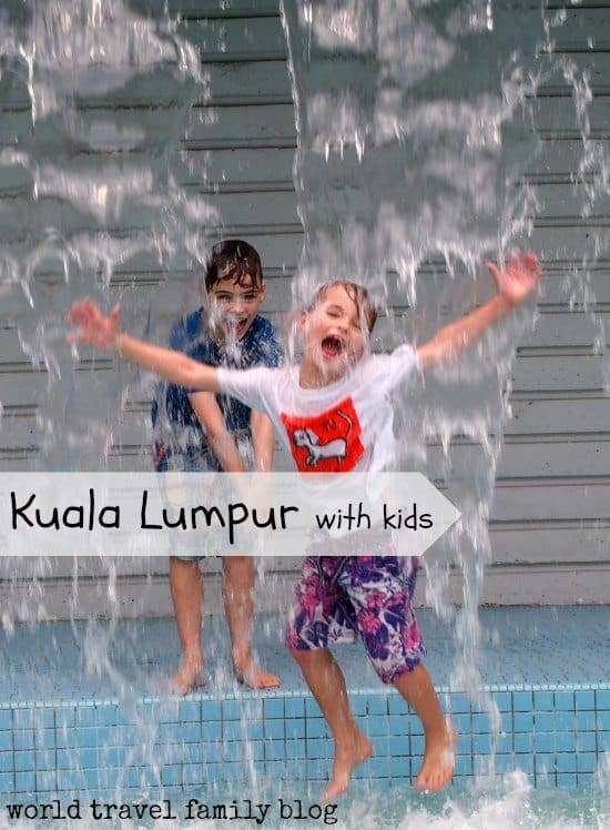 Things to do in Kuala Lumpur With Kids. Water fun, playground and water park near Petronas Towers.