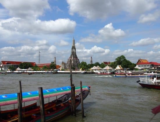 View of Wat Arun Bangkok From Side of the river