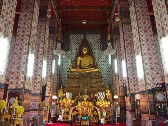 buddha inside wat arun bangkok thailand