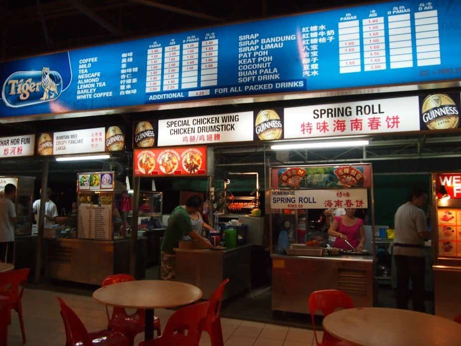 Long Beach Food Court Batu Ferringhi Penang Malaysia
