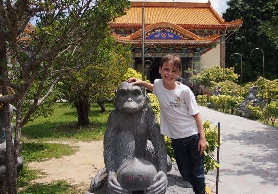 Monkeys at Kek Lok Si Malaysia.