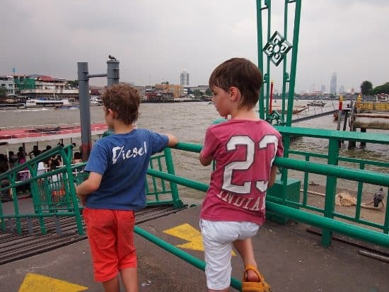 Waiting for the river ferry in Bangkok