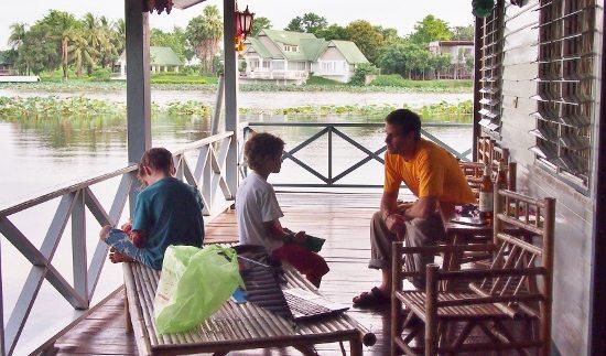 Floating raft room River Kwai