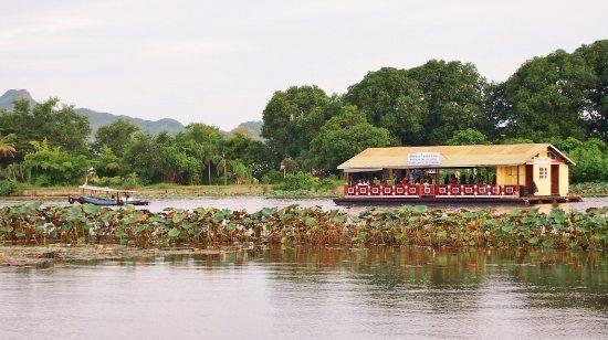 A Karaoke raft on River Kwai