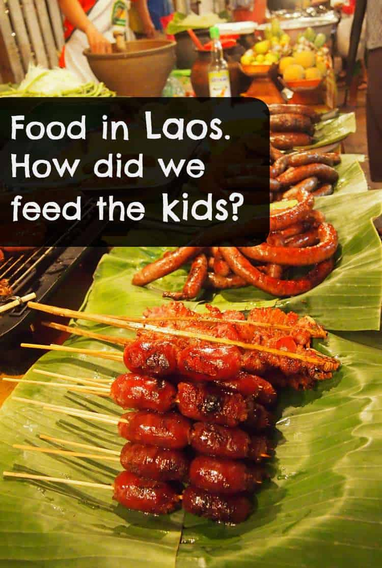Food in Laos. What did we feed the kids during our 6 weeks in Laos, with a closer look at food in Luang Prabang.