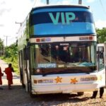 The bus from Vang Vieng to Luang Prabang Laos