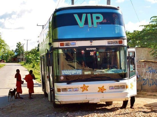 Getting to Luang Prabang from Vang Vieng by bus.