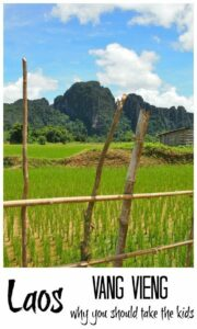 Laos Family Travel Vang Vieng with kids.