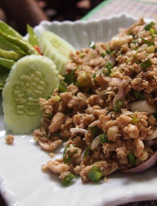 Laos food Larp Luang Prabang