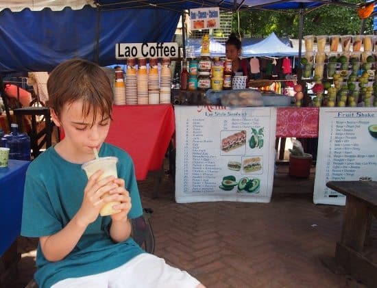 Baguettes, coffee and shakes. Luang Prabang Laos.