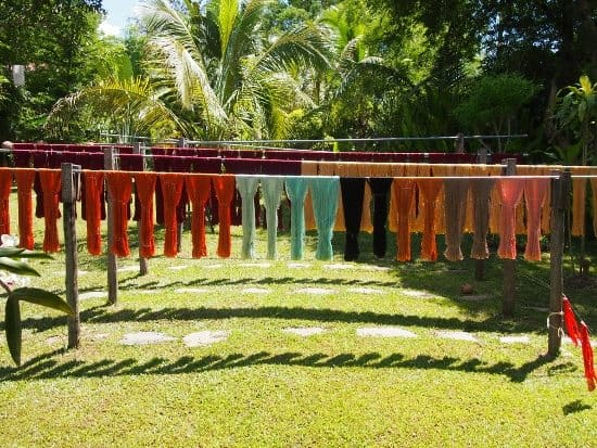Ock Pop Tok Luang Prabang silks drying