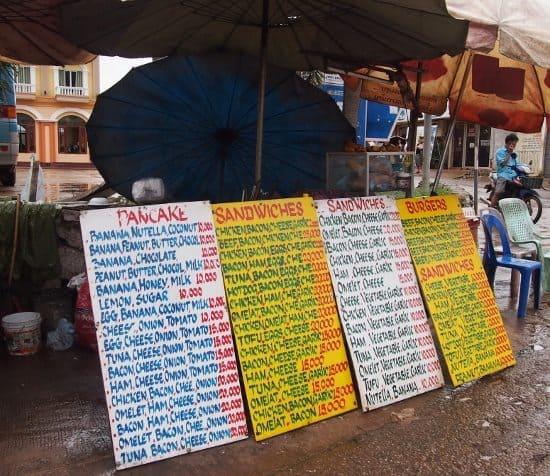 Laos budget street food backpacker budget