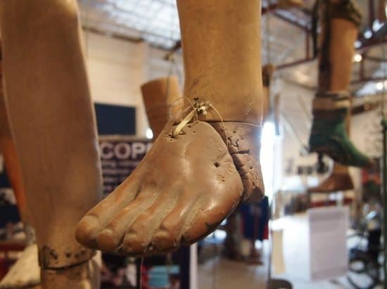 COPE visitor centre Vientiane. Artificial limbs from cope Laos