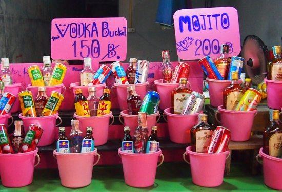 Take kids to the full moon party Ko Phangan buckets drinks