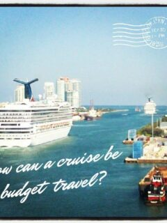 How can a cruise be budget travel