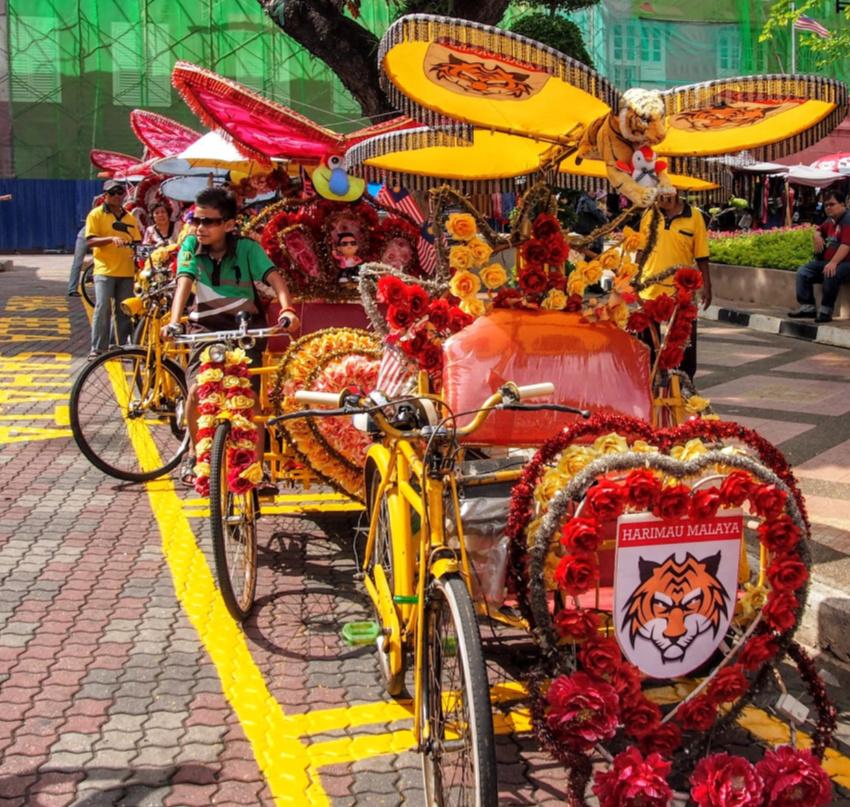 Trishawas Malacca with kids Trishaw Rides