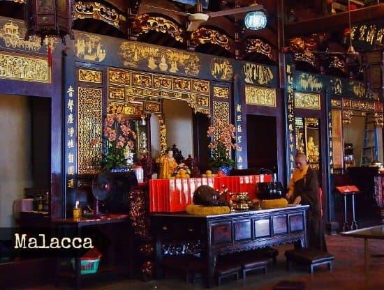 Malacca Travel Blog. Chenese Temple or Melaka, Malaysia.