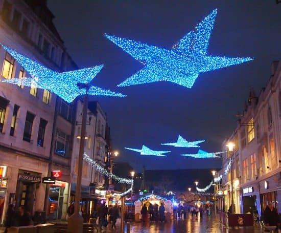 Cardiff Christmas lights. Wales