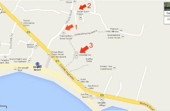Mirissa Snip map