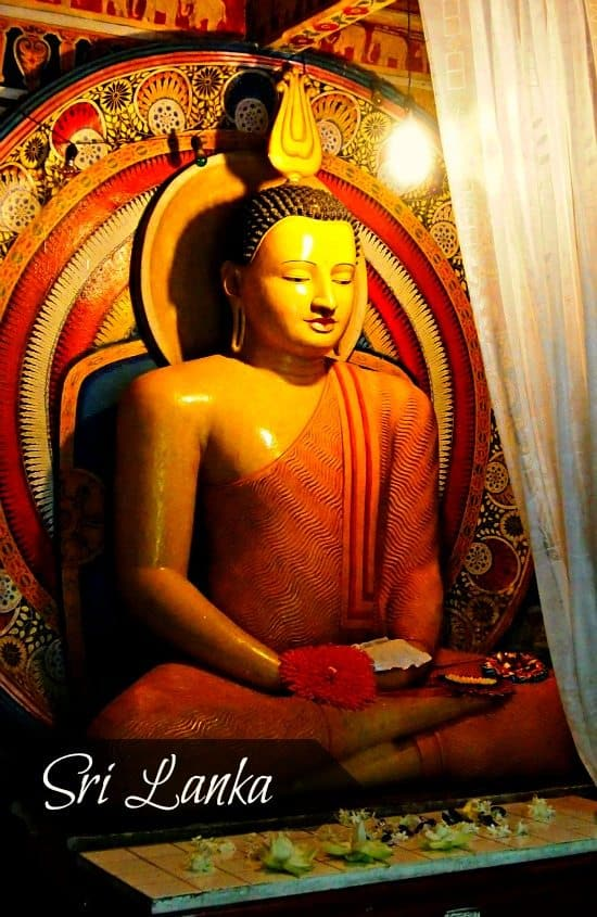 Kandy Sri Lanka. Seated Buddha in the Devales
