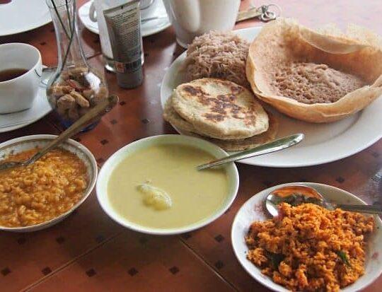 What is a hopper? Hoppers Sri Lanka, part of a Sri Lankan breakfast