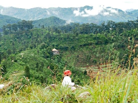 Little Adam's Peak Sri Lanka. View of Ella Gap from Adam's Peak.