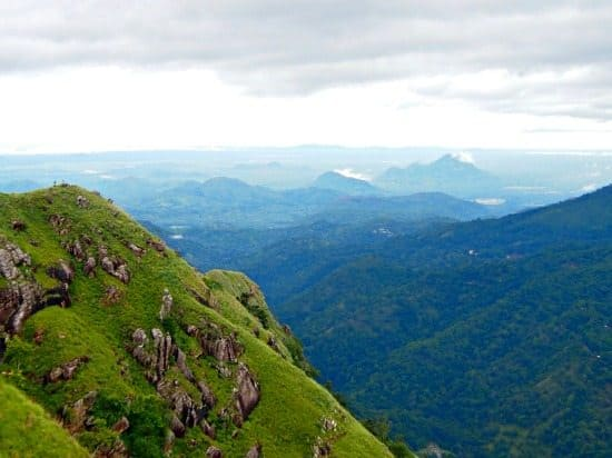 View of Ella Gap from Little Adam's Peak Sri Lanka