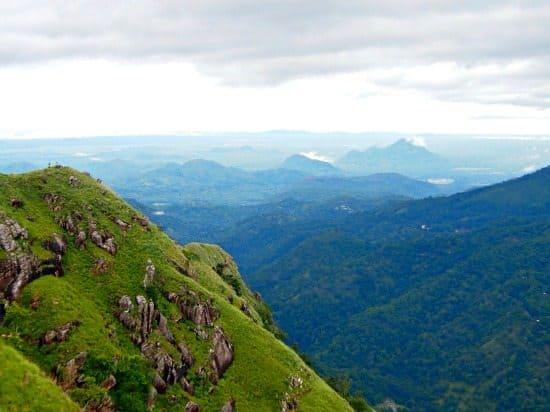 View of Ella Gap from Little Adam's Peak Sri Lanka