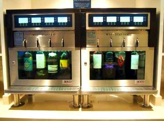 Wine dispenser machine on Norwegian Getaway. My favourite part of the ship and to be found in the buffet restaurant.